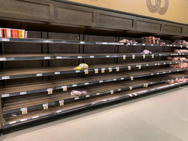 Empty supermarket shelves during COVID-19 | IFIS Publishing