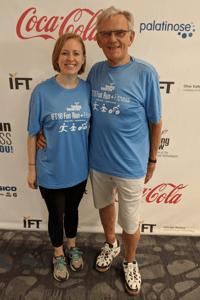 Rhianna and Colin at IFT fun run | IFIS Publishing
